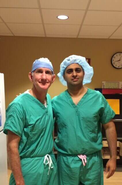 Dr. Louis Provides Clinical Training to Dr. Nikhil Pandhi