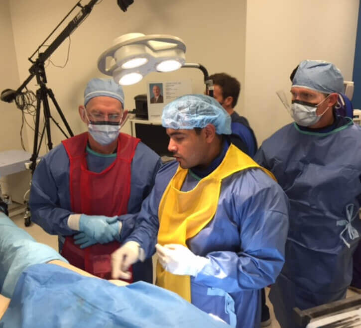 Dr. Louis Educates a Group of Traumatologists Regarding Direct Anterior Approach